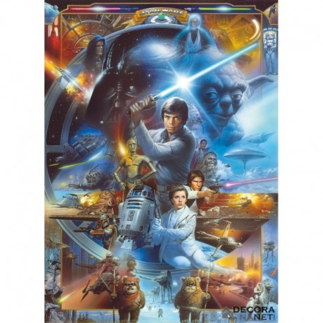 Fotomural STAR WARS by KOMAR 4-441 Star Wars Luke Skywalker Collage