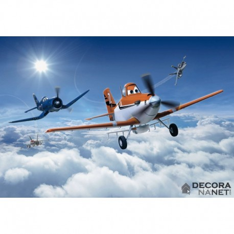 Fotomural DISNEY by KOMAR 8-465 Planes Above The Clouds