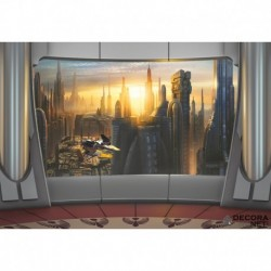 Fotomural STAR WARS by KOMAR 8-483 Star Wars Coruscant View