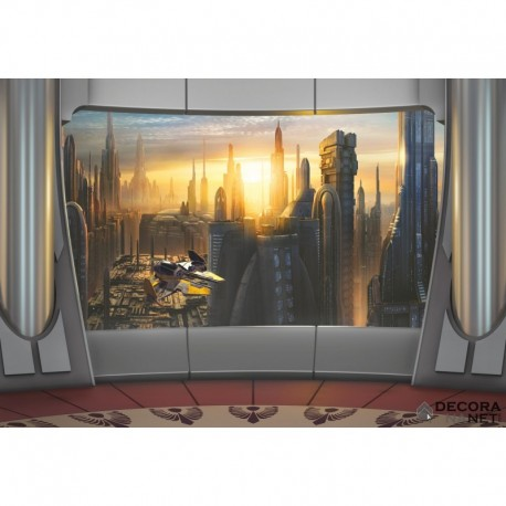 Mural STAR WARS by KOMAR 8-483 Star Wars Coruscant View