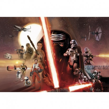 Fotomural STAR WARS by KOMAR 8-492 Star Wars Ep7 Collage