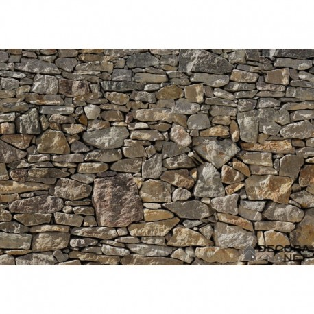 Fotomural WOOD AND STONES 8-727 Stone Wall