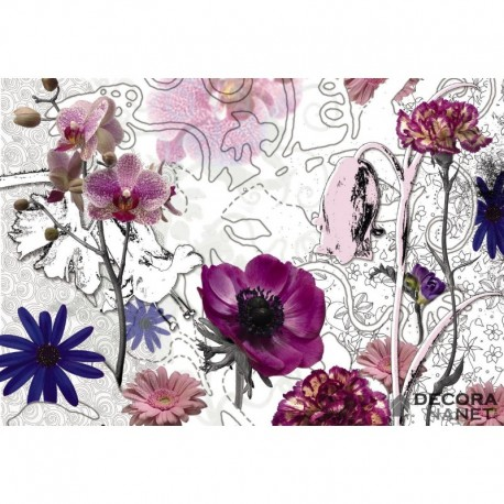Mural FLORAL AND WELLNESS 8-887 Purple