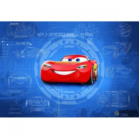 Fotomural DISNEY by KOMAR 8-488 Cars3 Blueprint