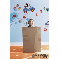 Wall Sticker KIDS by KOMAR 17003 Dogs Day