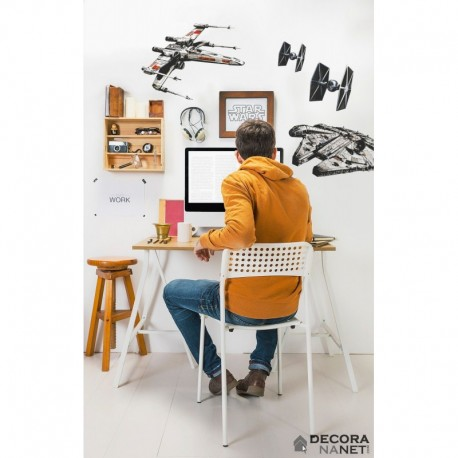 Wall Sticker STAR WARS by KOMAR 14723 Star Wars Spaceships