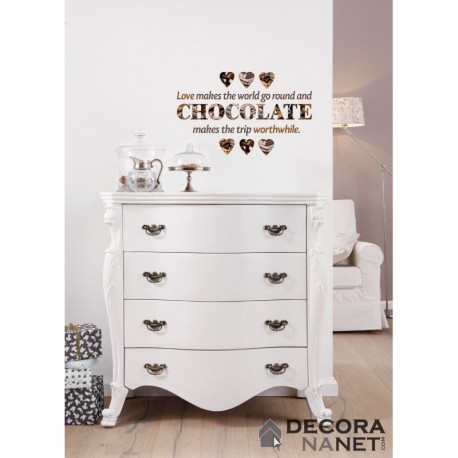 Wall Sticker WORDS 17048 Chocolate