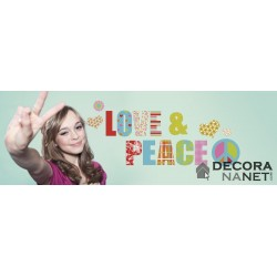 Wall Sticker WORDS 17718 Love And Peace