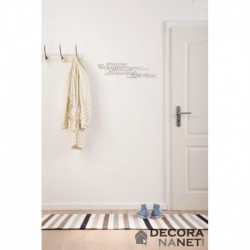 Wall Sticker WORDS 19700 Welcome